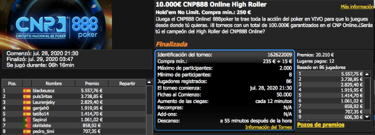 CNP 888 Series Online High Roller