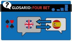 La 4bet o Four bet en el poker